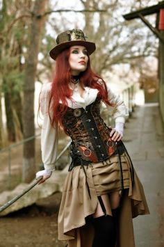Steampunk Tendencies | J.Dee #Fashion #Steampunk #Redhair
