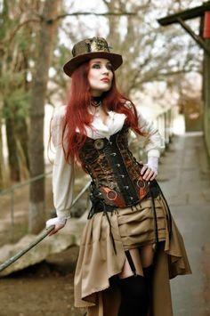 Steampunk Tendencies | J.Dee #Fashion #Steampunk #Redhair