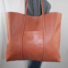 00414cb457e0a BANANA REPUBLIC Large Coral Leather Shoulder Hobo Tote Satchel Slouch Purse  Bag  BananaRepublic  ToteShoppers