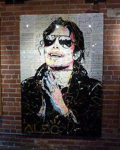 #MichaelJackson Street Art, location unkown - sorry #MJAPWNN #DENoName