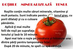 Mască cu roșii ptr ten gras Makeup Revolution, Diet And Nutrition, Face And Body, Good To Know, Manicure, Hair Beauty, Cooking Recipes, Hacks, Stuffed Peppers