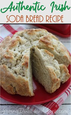This Original Irish Soda Bread Recipe is sure to be a hit at your home tonight. Regardless of what you choose to make for dinner, this plain Irish Soda Bread recipe is the perfect addition to any authentic Irish meal or St. Patrick's Day celebrations. Irish Bread, Irish Soda Bread Recipe, Plain Bread Recipe, Hp Sauce, Bread Recipes, Cooking Recipes, Irish Food Recipes, Irish Desserts, Irish Appetizers