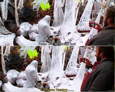 The Hobbit behind the scenes... Desolation of Smaug! Im reading this part literally right now! (well, and on pinterest...:P)