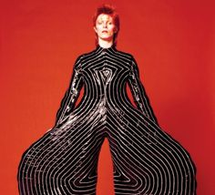 Striped bodysuit for Aladdin Sane tour, 1973 Design by Kansai Yamamoto Photograph by Masayoshi Sukita © Sukita / The David Bowie Archive 2012