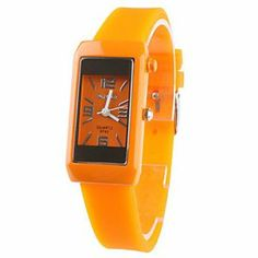 Tanboo Rubber Band Quartz Wrist Watch For Women(Orange) by Tanboo. $7.99. Women's Watche. Wrist Watches. Fashionable Watches. Gender:Women'sMovement:QuartzDisplay:AnalogStyle:Wrist WatchesType:Fashionable WatchesBand Material:RubberBand Color:OrangeCase Diameter Approx (cm):2.1Case Thickness Approx (cm):0.7Band Length Approx (cm):18.599999999999998Band Width Approx (cm):1.2