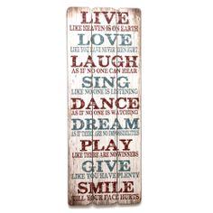 Cartel fabricado con 3 tablones de madera y con efecto envejecido e ilustración de estilo vintage retro con frases inspiradoras.  Podrás encontrarlo en www.honeypoppies.com