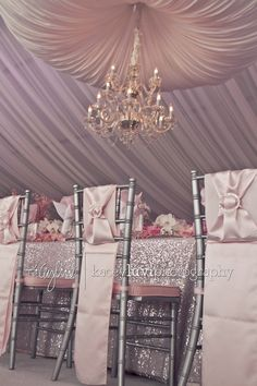 Pretty Pink Wedding Decoration @Mandy Bryant Dewey Seasons Bridal