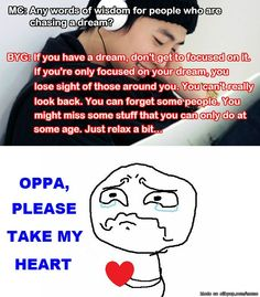 The reason why I love Bang YongGuk, his wise words | allkpop Meme Center