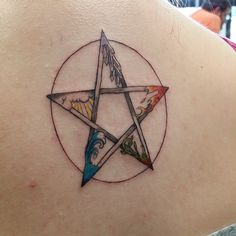 Spirit, air, water, earth, fire;Five points of the pentagram, which signifies balance and protection