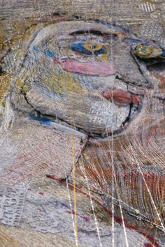 Detail of Alice Kettle's Portrait of Queen Henrietta in the installation in the Queen's House Greenwich