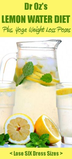 Dr Ozs Lemon Water Detox Diet is a great way to boost your weight loss improve your overall health! Plus, yoga poses for extra weight loss (it only takes minutes each day! Weight Loss Tea, Weight Loss Drinks, Losing Weight, Weight Gain, Water Recipes, Detox Recipes, Drink Recipes, Easy Recipes, Healthy Recipes