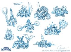 Original Doomlander Concept Sketches by MURCHIEMONSTER