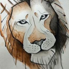 :) #chile #chiletatuajes #inktober  #ilustration #ilustracion #wop #wip #tattoo_artwork #acuarela #watercolor #leon #aov #inktober2016