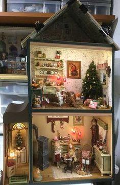 1/12 Puppenhaus Miniatur Harz Kreative Ornament Katze Lion Dancing Modell Puppenstuben & -häuser