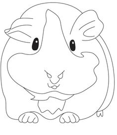 Guinea Pig, : Pregnant Guinea Pig Coloring Page