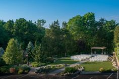 The outdoor ceremony space at The Villa Borghese, courtesy of Kristine Palmer Photography.  Both highly recommended for your big day! -- DJ Bri