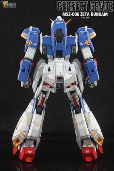 PG Zeta Gundam - Customized Build Modeled by Jon-K Zeta Gundam, Gunpla Custom, Transformers, Art Pics, Cartoon, Robots, Building, Suits, Comics