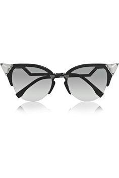 da235389296 Fendi - Crystal-embellished cat-eye acetate sunglasses