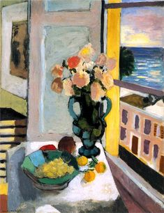 Flowers in front of a Window Henri Matisse