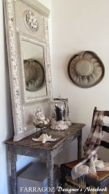 FARRAGOZ: Combining 2 Passions: Trumeau Mirrors and Shell Art