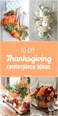 10 Thanksgiving Centerpiece ideas that you can DIY! via @tipjunkie