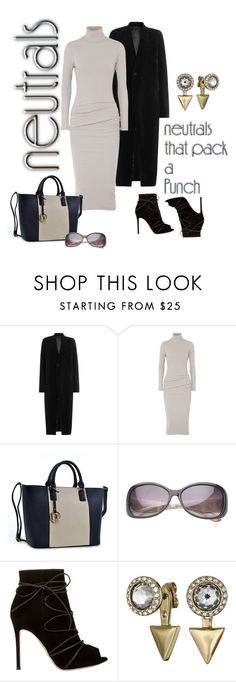 """""""Neutral Basics"""" by mountainalive ❤ liked on Polyvore featuring Rick Owens, James Perse, Dasein, Gianvito Rossi and Rebecca Minkoff"""