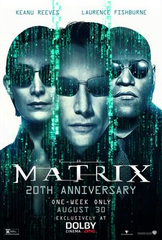 High resolution official theatrical movie poster ( of for The Matrix Image dimensions: 1080 x Starring Keanu Reeves, Laurence Fishburne, Carrie-Anne Moss, Hugo Weaving Hugo Weaving, Laurence Fishburne Matrix, Film Mythique, The Wachowskis, The Matrix Movie, Carrie Anne Moss, Films Cinema, Tv Series Online, New Poster