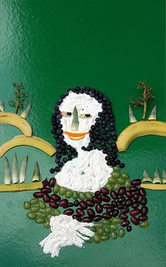 mona lisa - fruit and veggies