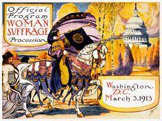 Women's Suffrage Program Cover Art Woman by FoxgloveMedia on Etsy