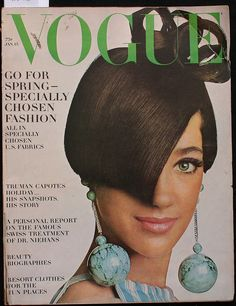 Vogue-January 1966 by Fashion Covers Magazines, via Flickr Marisa Berenson