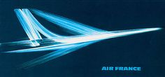 Roger EXCOFFON - Air France Poster. 1956 or 1964