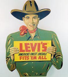 Levis Vintage Ad #levis #vintage