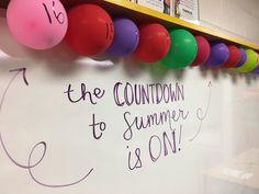 Kid can take one home each day?balloon fillers that make for a fun end of the year countdown! Pre K Graduation, Kindergarten Graduation, Kindergarten Activities, Classroom Activities, Preschool Crafts, Toddler Activities, Music Classroom, School Classroom, Classroom Decor