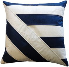 Lindsay Indoor Pillow Blue White