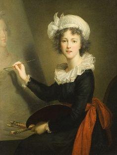 Elizabeth-Louise Vigee-LeBrun: Self Portrait of the Artist at Work