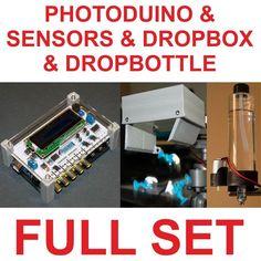 Water siphon & Object Drop Photography Kit. Camera & Flash support - Photoduino.