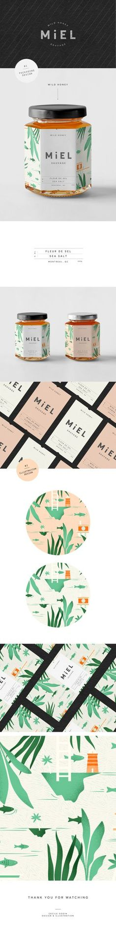 "Popatrz na ten projekt w @Behance: ""Miel Sauvage"" https://www.behance.net/gallery/46446369/Miel-Sauvage"