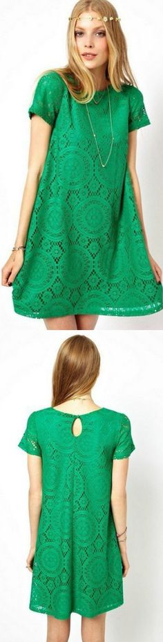 Floral Crochet Lace Dress! Click The Image To Buy It Now or Tag Someone You Want To Buy This For.  #GreenLaceDress