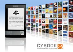 """2007: Bookeen's Cybook Gen3, first reader with an e-ink screen, """"the book which never ends"""". History of Bookeen"""