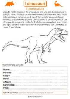 Tante schede didattiche dedicate ai dinosauri per bambini della scuola primaria in PDF da stampare e da usare come verifica di storia o approfondimento History For Kids, Teaching History, Jurassic World, Primary School, Problem Solving, Pixel Art, Back To School, Classroom, Memes