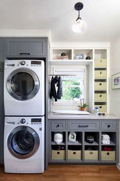 Awesome 90 Awesome Laundry Room Design and Organization Ideas Small laundry room ideas Laundry room decor Laundry room makeover Farmhouse laundry room Laundry room cabinets Laundry room storage Box Rack Home Room Remodeling, Room Inspiration, Room Storage Diy, Grey Laundry Rooms, Farmhouse Laundry Room, Laundry In Bathroom, Small Room Design, Room Makeover, Room Design