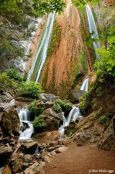Waterfall in Limekiln State Park, Big Sur, California -