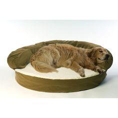 Carolina Pet Company Large Ortho Sleeper Bolster Bed - Green