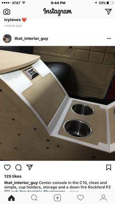 How Interior Designers Make Money Custom Car Interior, Truck Interior, Mustang Interior, Custom Center Console, Vintage Motorhome, Van Storage, Automotive Upholstery, Car Console, Custom Consoles