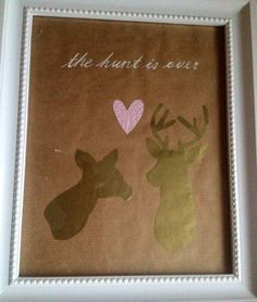Hunting themed engagement gift - the hunt is over
