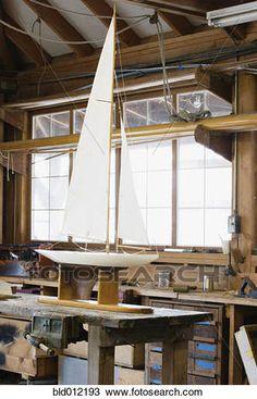 Banque de Photo - modèle, voilier, sur, table, dans, atelier bld012193 - Recherchez des Images, des Photographies et des Photos Clip Art - bld012193.jpg