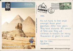 Giza, Postcards, Challenges, Feelings, Movie Posters, Film Poster, Billboard, Film Posters, Greeting Card