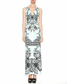 Karma Printed V-Neck Maxi Dress by Roberto Cavalli at Neiman Marcus.