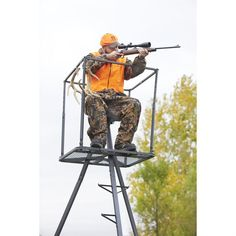 13' Deluxe Tripod Deer Stand Hunting Accessories  #gg
