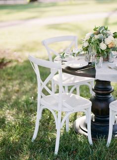 White crossback chairs | Kacie Lynch Photography | see more on: http://burnettsboards.com/2014/10/sophisticated-vineyard-wedding/